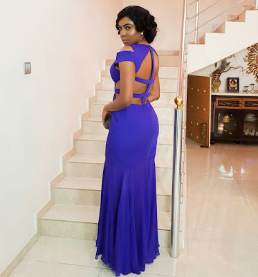 Actress, Chika Ike glitters in Blues (Photos)