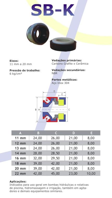 Resultado de imagem para selos mecanicos sb-k catalogo