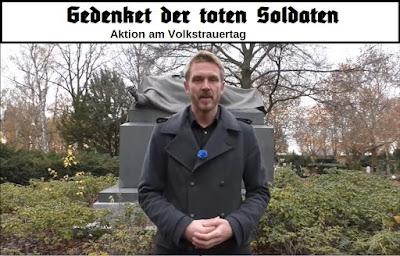 gedenket der toten soldaten - aktion am volkstrauertag