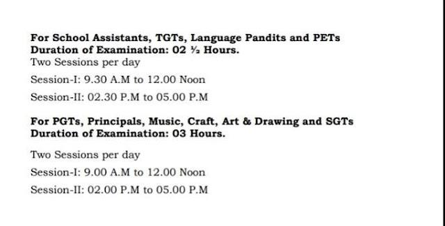 AP DSC TRT TET cum TRT 2018 Examination Duration Details