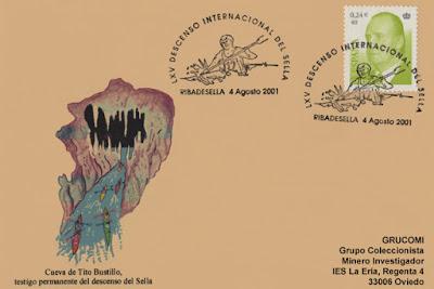 Tarjeta del 65 Descenso Internacional del Sella. Las piraguas