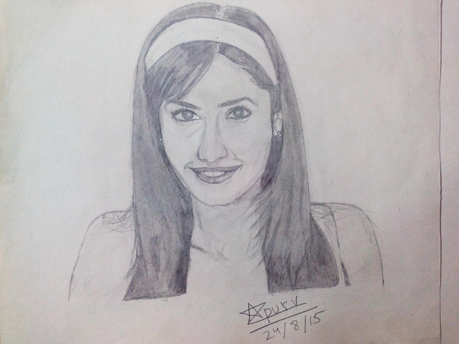 Katrina kaif sketch