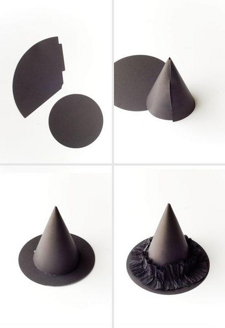 Decoraci n de halloweeen sombreros de brujas voladores - Decoracion de sombreros ...