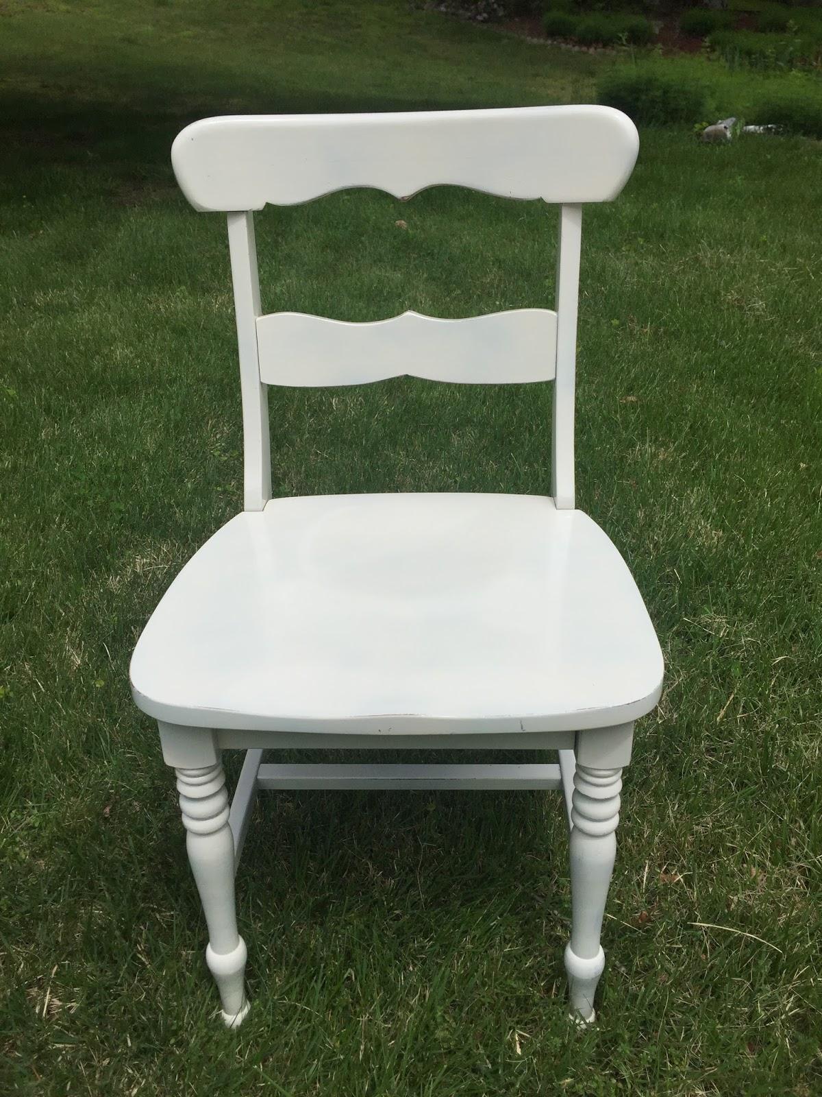 Drew Danielle Design: White Distressed Chairs