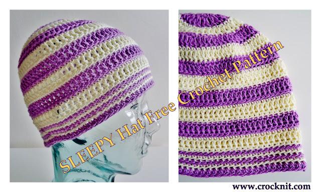 how to crochet, free crochet patterns, hats, beanies, chemo caps, bald heads, alopecia,
