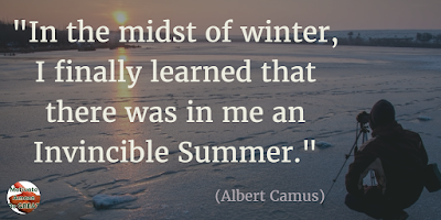 "71 Quotes About Life Being Hard But Getting Through It: ""In the midst of winter, I finally learned that there was in me an invincible summer."" - Albert Camus"