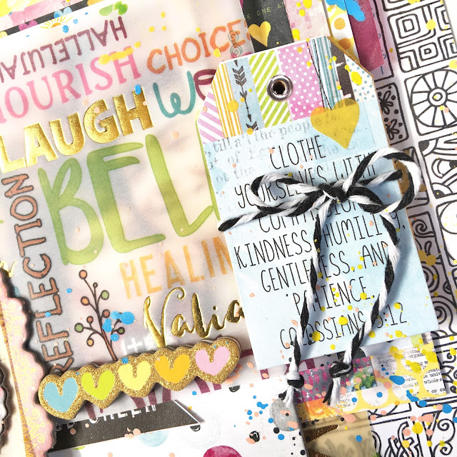 Be Led By Your Dreams Scrapbook Layout by Angela Tombari using BoBunny Faith Collection