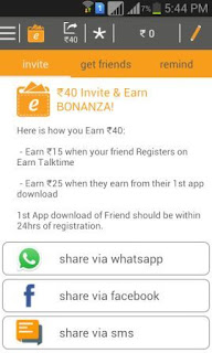 Earn Talktime Refer and earn contest