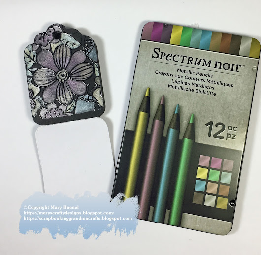 Spectrum Noir Metallic Pencils and Colorista Dark Adult Coloring Books