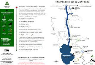 Plano del Congost del Mont Rebei.