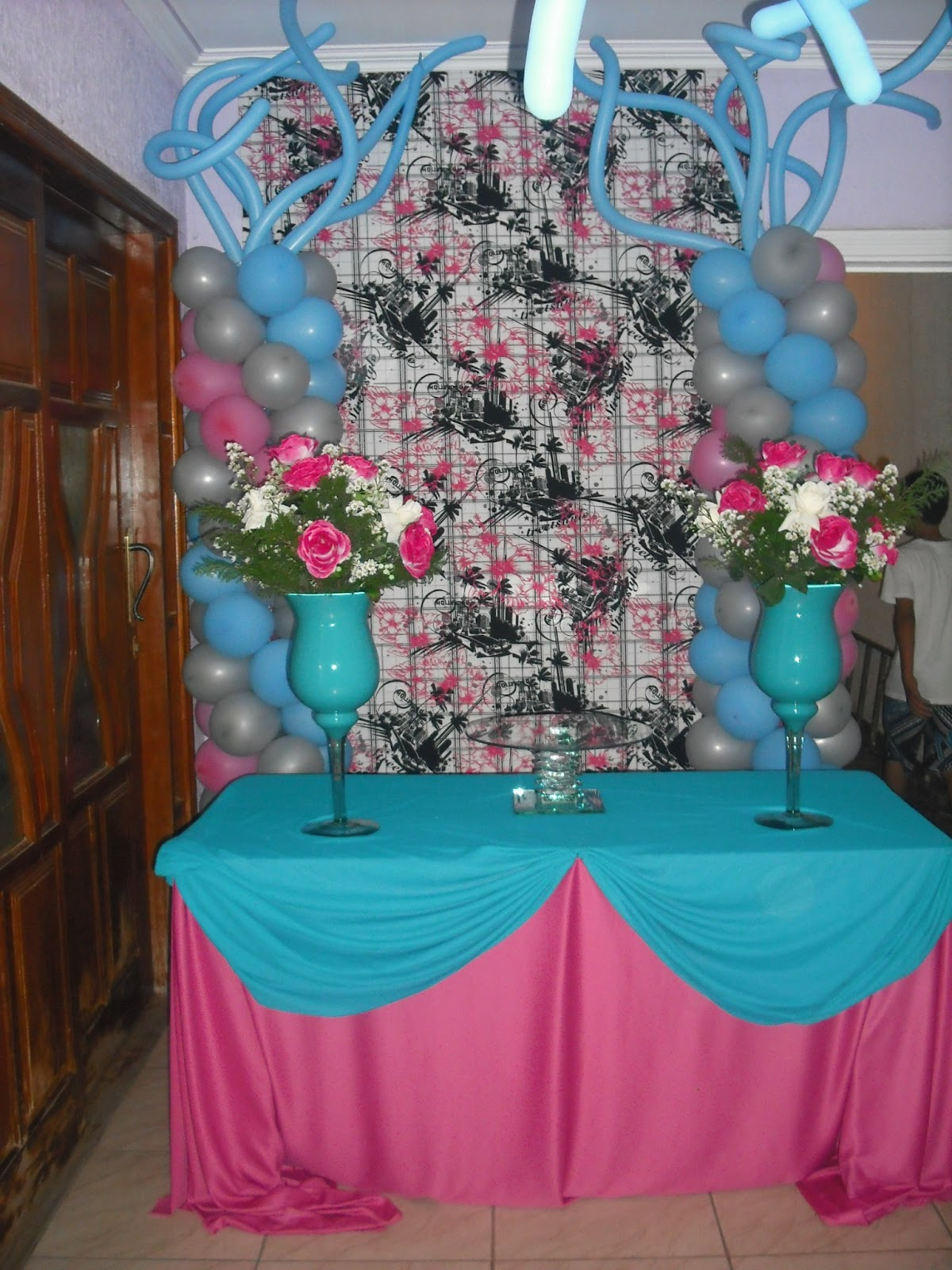 Festejar Eventos Festa Adulta Azul E Rosa