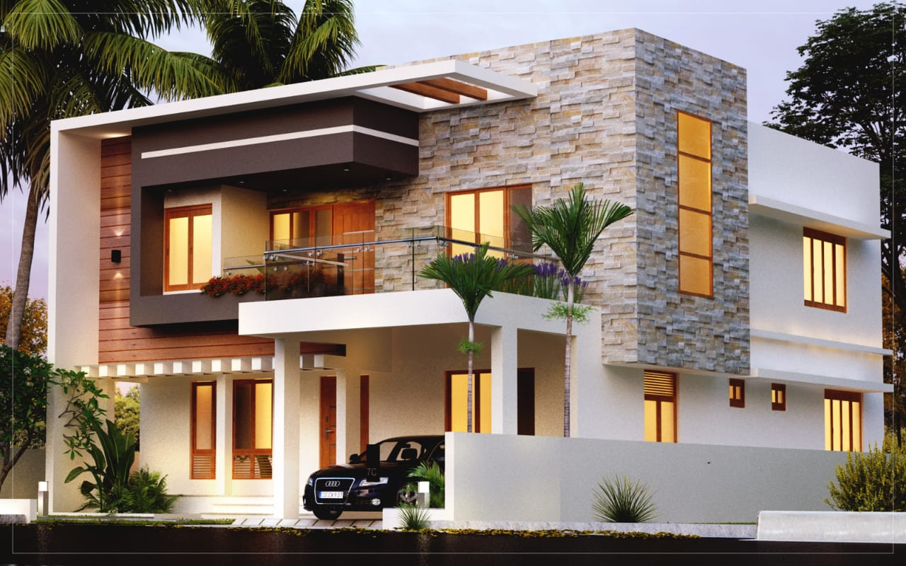 3 bed room residence in double storey 32 lakhs budget