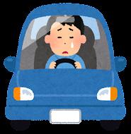 運転している男性のイラスト( 泣く)