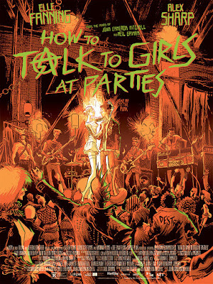How To Talk To Girls At Parties Movie Poster Screen Print by Fábio Moon x Mondo