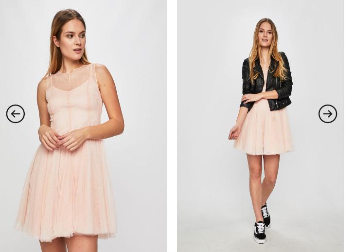 Answear - Rochie eleganta roz tip printesa fara maneci