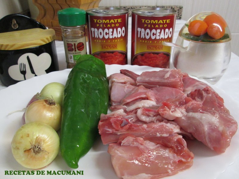INGREDIENTES FRITO DE TOMATE