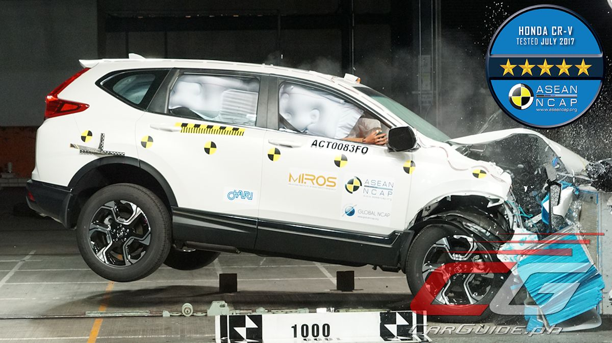 Honda cars philippines inc hcpi has just announced that the recently launched all new 2018 cr v has been awarded a 5 star safety rating by the asean new