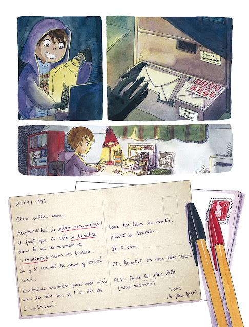 """page de """"Les Petites cartes Secrètes"""" de Anaïs Vachez et Cyrielle chez Delcourt"""