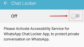 Aur aapko Chat locker ka ek option milega.AapKo uspe touch karna hai. Jaisa ke niche dikhaya gya hai.