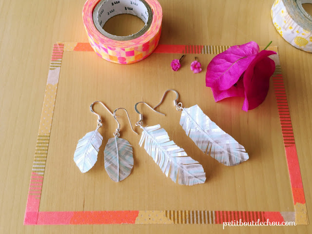 Feather earrings small and big size