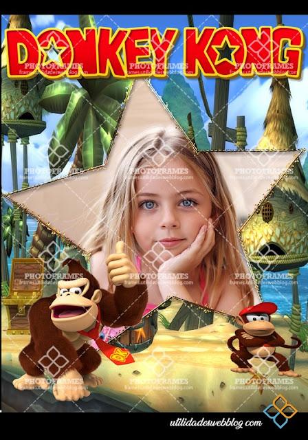 Bonito marco para fotos inspirado en Donkey Kong