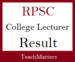 image : RPSC College Lecturer Result 2021 @ TeachMatters