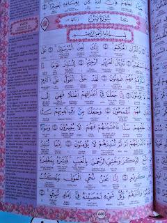 Tampilan dalam Al-Quran Annisa for Ladies dan Fiqih Wanita