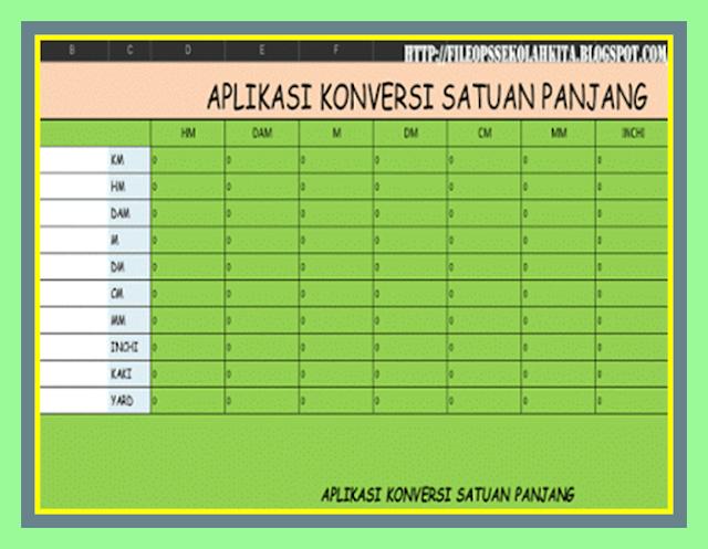 Aplikasi Konversi Satuan Panjang New Versi Format Excel Terbaru