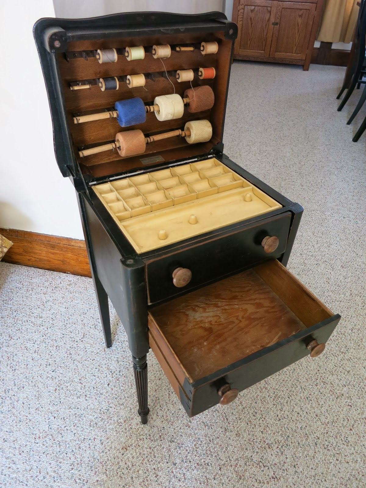 The Cabinet Was Made By Caswell Runyan Co In Huntington Indiana Which Operation Between 1907 And 1956