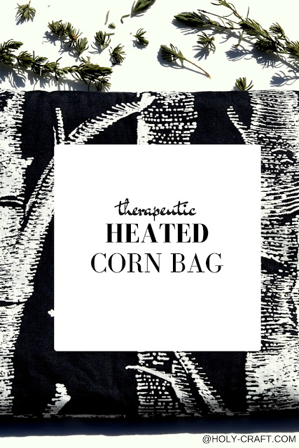 How to make a therapeutic heated corn bag