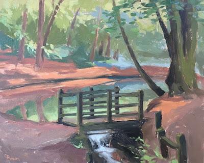 #129 'The Bridge, Waggoners Wells' 9.5×12″