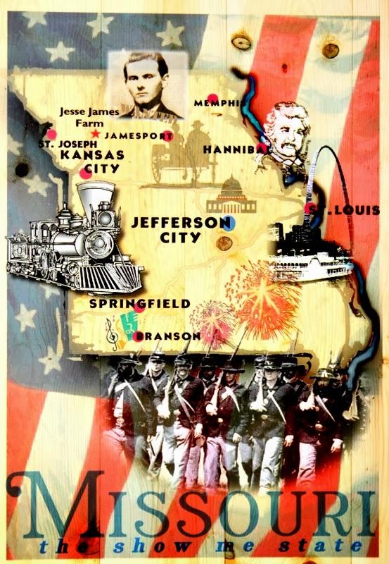 mapa Missouri