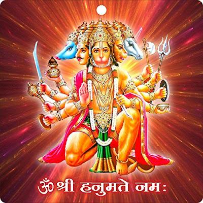Panchamukha - Sri Panchamukhi Hanuman - पंचमुखी हनुमान की कहानी, जानिए पंचमुखी क्यो हुए हनुमान - श्री पंचमुखी हनुमान रूप पांच चेहरों से बना रूप है जिसमे हर चेहरे का दर्शन कृपा देने वाला है
