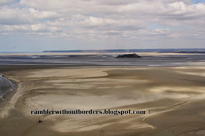 Omaha Beach as seen from Mont Saint Michel, Normandy, France