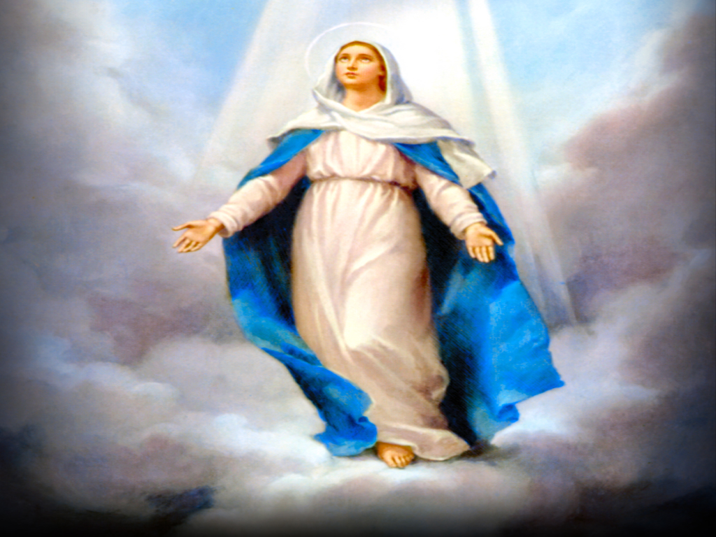 the difference between christs ascension and marys assumption into heaven