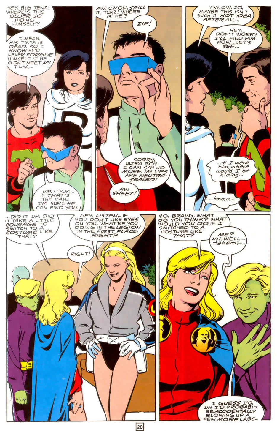 Legion of Super-Heroes (1989) 40 Page 19