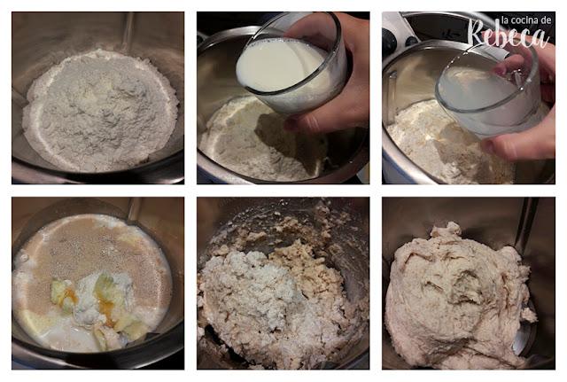 Receta de pan de molde: mezclado
