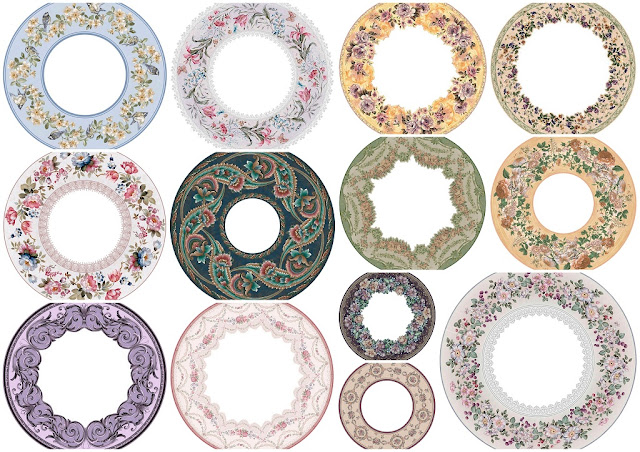Flowery Retro Free Printable Labels or Toppers.