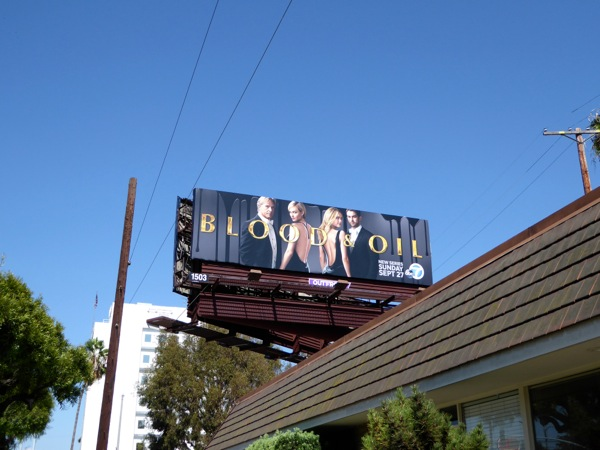 Blood & Oil season billboard