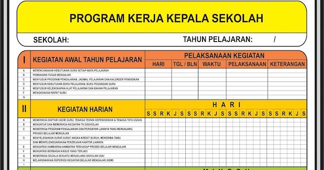 Program Supervisi Kepala Sekolah Program Kerja Kepala Sekolah Administrasi Kepala Sekolah Tugas Pokok Kepala Sekolah Kompetensi Kepala Sekolah