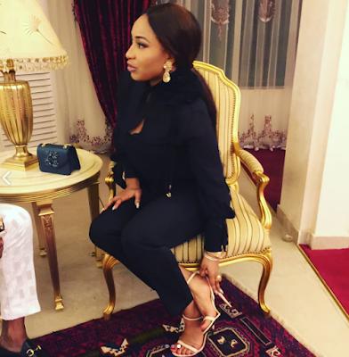 Tonto Dikeh Slays In Black Amidst Marriage Breakdown