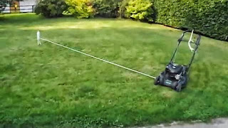 Brendan Spaar enjoys mowing his Georgia lawn