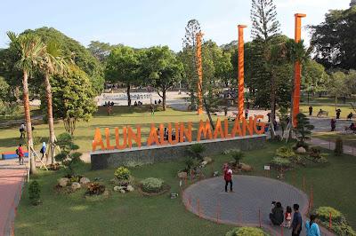 alun alun kota Malang terbaru