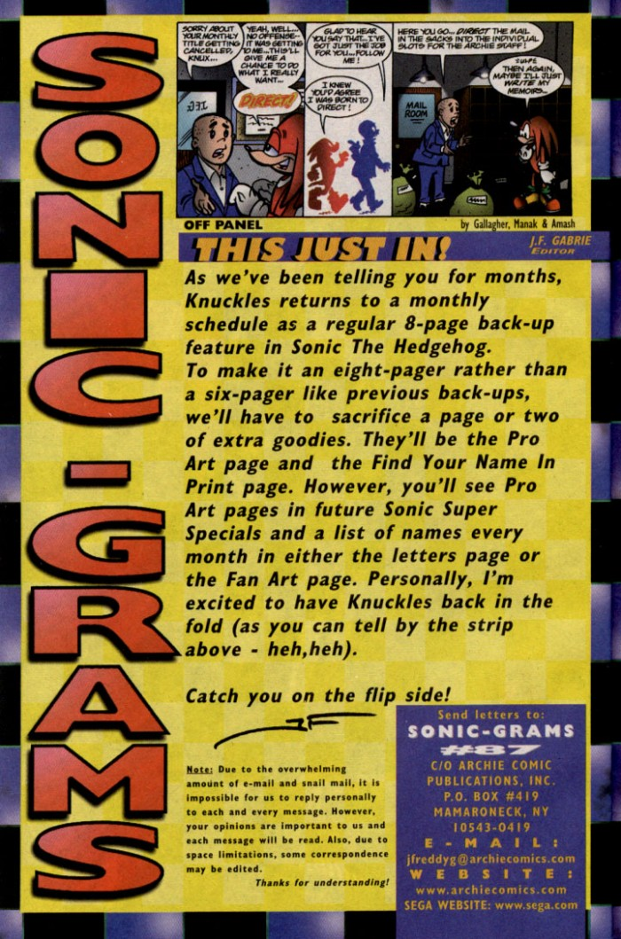 Read online Sonic The Hedgehog comic -  Issue #87 - 23