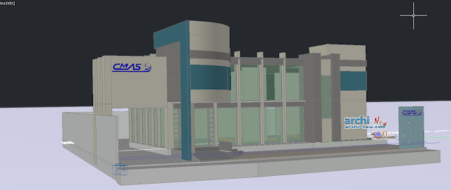 Office Building 3d in AutoCAD