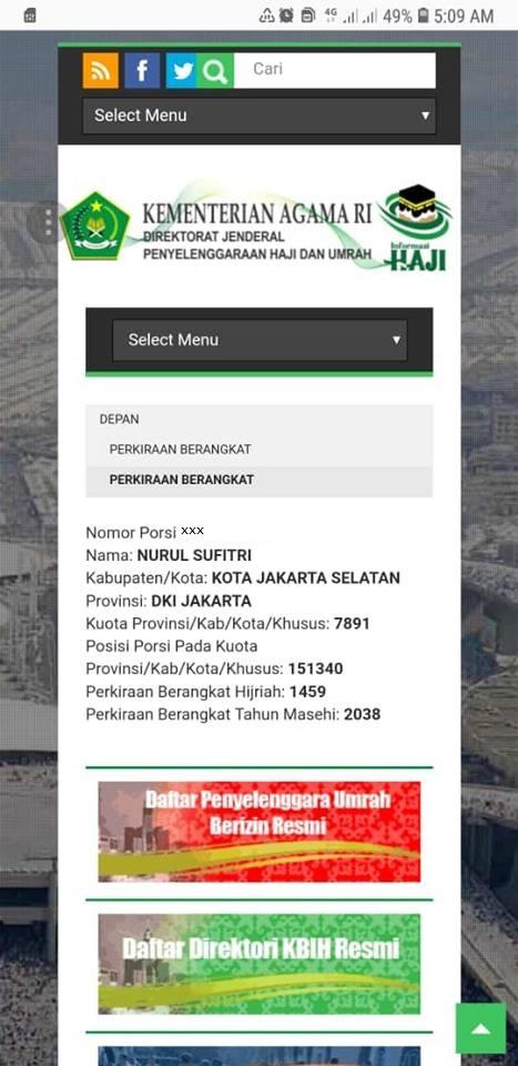 prakiraan keberangkatan haji cara dan syarat daftar haji di kantor kementerian agama republik indonesia kemenag nurul sufitri mom blogger writer