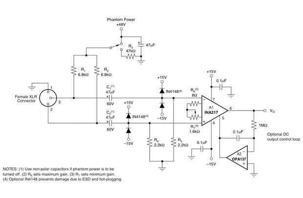 d i y pro audio microphone pre amplifier design using integrated circuits. Black Bedroom Furniture Sets. Home Design Ideas