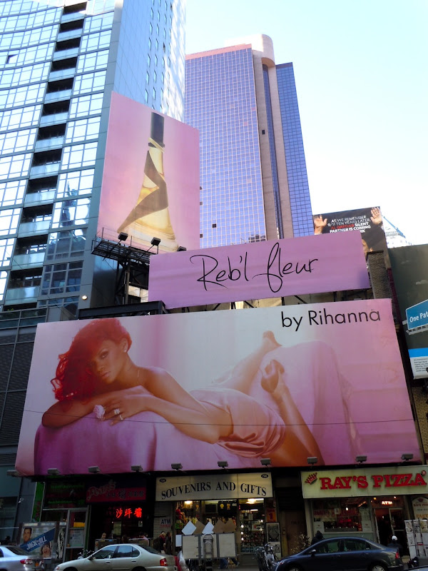 Rihanna fragrance billboards NYC