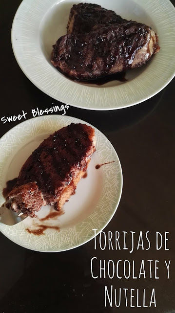 Torrijas de chocolate y nutella