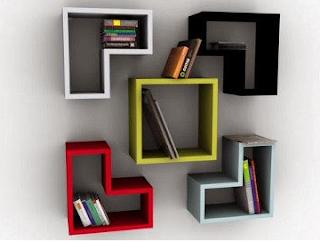 cara membuat rak buku gantung